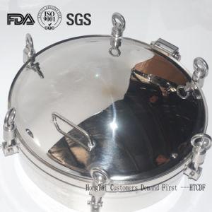 Coperchio di botola di Manway di pressione dell'imbarcazione del serbatoio dell'acciaio inossidabile del commestibile