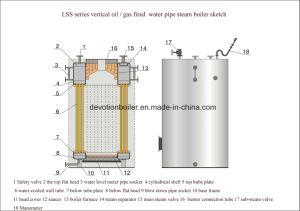 Completamente automatico & rapidamente installare la caldaia a vapore verticale di 1000 Kg/Hr