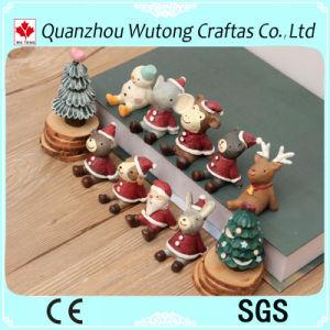 Comercio al por mayor adornos de Navidad Mini figuras de resina
