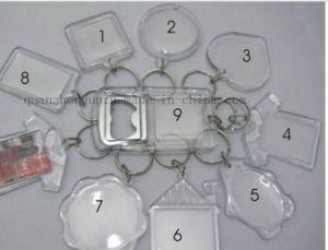 カスタムプラスチック映像の写真フレームのキーホルダーのKeychainのキーホルダーの鎖