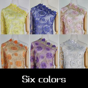 New Arrival African Tulle Lace Tecido Stone French Net Lace