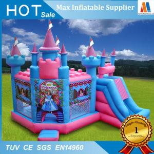 Lona de PVC Princess Bouncer castillo inflable con tobogán
