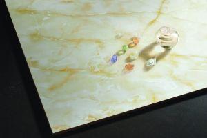 フォーシャンの浴室のための製造業者によって磨かれる艶をかけられた大理石の床タイル