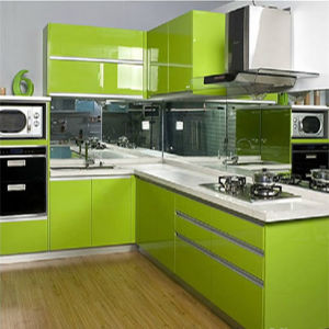Nach Maß UVGlossy Kitchen Cabinet Door mit Aluminium Edge