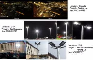 Lúmenes buena calle luz LED