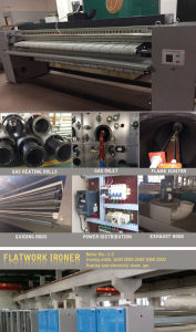 los 3m, los 2.5m, vapor eléctrico Flatwork Ironer del gas de los 2m