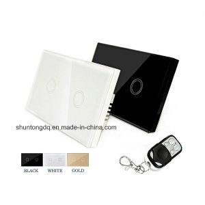 Hogar inteligente Touch Control Remoto 110V-240V el estándar estadounidense Panel de Vidrio resistente al agua para el hogar suministros eléctricos