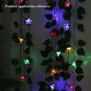 Hochwertiger Typ buntes Solarzeichenkette-Licht des Pfirsich-2018 des Weihnachtenled