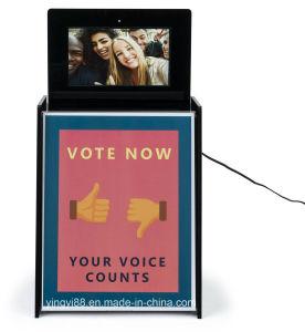 El mejor venta de papeletas de acrílico de Buzón de sugerencias con pantalla LCD