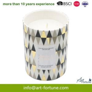 Vela Perfumada de cerâmica com papel adesivo para decoração