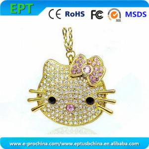 Горячая продажа Cat форма металлический флэш-накопитель USB (ES140)