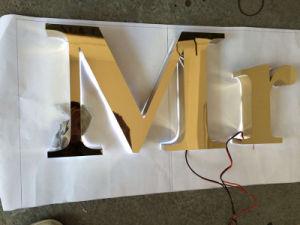Bouw Van het Bedrijfs brons van het Metaal van het Roestvrij staal Brsuhed van de Laser Besnoeiing Gegoten Dimensionale Stevige Brief