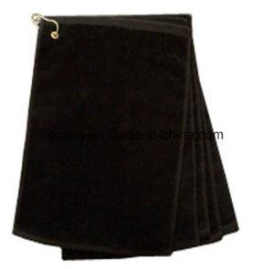 Хлопок/ткань из микроволокна с крюком и кольцо для гольфа полотенце