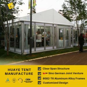Erstklassiges Glaswand-Abdeckung-Ereignis-Zelt mit Dekoration (hy829b)