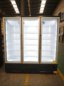 Congelador vertical puerta vidrio comercial para el supermercado vitrina refrigerador