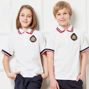 89c11b97ca Escola de alta qualidade personalizada de manga curta uniforme camisa Polo