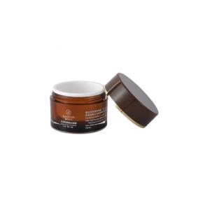 50ml, 100ml, 200ml, 300ml, 500ml cosmétique en plastique orange Jar pour visage corps crème avec le capuchon en plastique