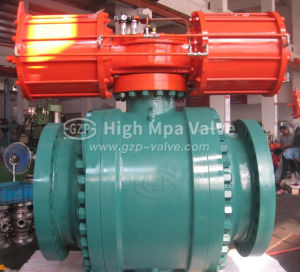 API 6D/resistente a químicos/Grandes /Duples Ss em aço inoxidável / Aço Carbono/Forjados / elevador eléctrico de forjamento hidráulico pneumático 2500lb a Válvula de Esfera