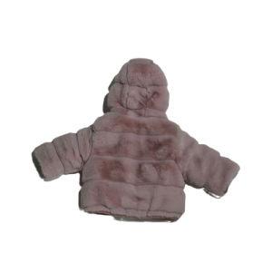 Зимнее высококачественное имитальное кролик Fur Hooded Children′ S Холодная одежда Куртка