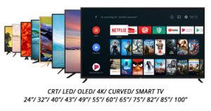 La nouvelle technologie Blue-Tooth TV écran plat de télévision LED 4K Smart TV LED 65 pouces Smart avec la voix télécommande