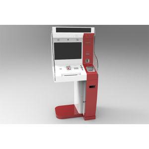 Pantalla táctil de banco Self Service abrir una cuenta nueva emisión de tarjetas de quiosco de pago