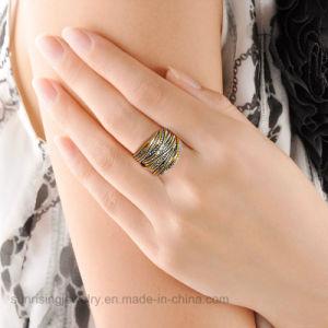 Простая конструкция дешевые цены украшения белого золота кольцо без люка камнеуловителя