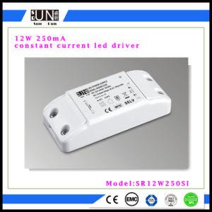 12W fuente de alimentación constante de la corriente 250mA LED, MAZORCA LED, luz de la MAZORCA LED del alto brillo, factor del poder más elevado, fuente del poder más elevado de alimentación de PF>0.9 12W