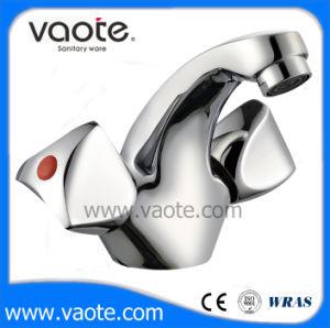 二重ハンドル真鍮ボディ洗面器のコック(VT60803)
