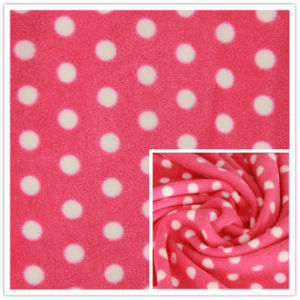 Home Textile, Garment.를 위한 반점 Printing 반대로 Pilling Polar Fleece Printed Knitting Fleece