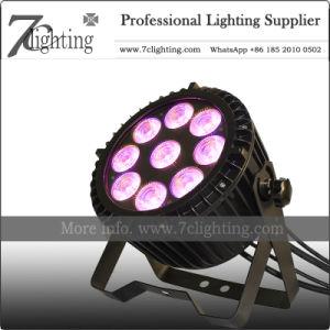 Centro de Atención al aire libre 9*18W Slimpar RGBWA Iluminación DMX LED UV