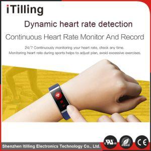 Gran pantalla en color distribuidor Digital de Fitness Deporte Pulsera muñequeras Reloj inteligente con la frecuencia cardíaca/registro del sueño/Podómetro/recordatorio/sedentarios de la presión arterial