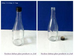 Screw Capの380ml Transparent Glass Wine Bottles