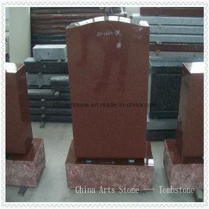 De rode Eenvoudige Grafsteen van het Graniet