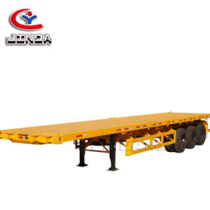 China de fábrica Jinda Manufacterur de alta calidad de superficie plana del eje 2/3/ remolque remolque semi plana/ remolque remolque para venta