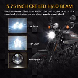 点のEmarkのオートバイのための公認の駐車灯モーター円形5.75inch LEDヘッドライト