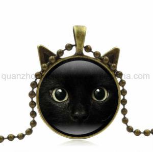 カスタム熱い販売の方法ガラス猫の宝石類のネックレス