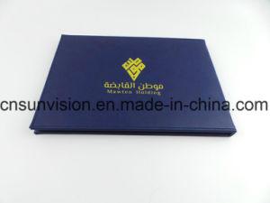 10.1  A4 두꺼운 표지의 책 PU 사업 브로셔 영상 우송자 카드