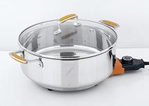 POT caldo di cottura antiaderante elettrico dello Skillet elettrico ovale del Cookware del POT