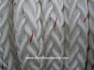 12 riga marina della corda di attracco dei fili pp