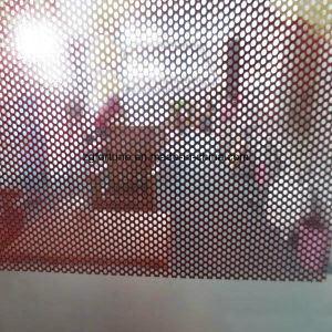 屋外印の自己接着穴があいたガラス一方通行の視野のフィルム