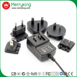Fábrica de Shenzhen intercambiables 10W AC DC Adaptador de alimentación de conmutación con UL cUL FCC, CE PSE