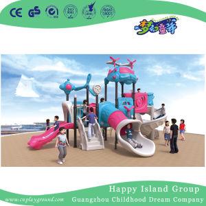 De openlucht Nieuwe Blauwe en Roze Moderne Speelplaats van het Staal van Kinderen Luchtschip Gegalvaniseerde voor Verkoop (Hg-10501)