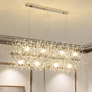 Pendente de cristal moderna decoração da Lâmpada da Luz do pendente de Cristal