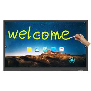 2020 Новое хорошее соотношение цена - все в одном сенсорном экране Smart интерактивные плоской панели электронной 4K UHD доски для преподавания учебных совещание с подвижной стойки