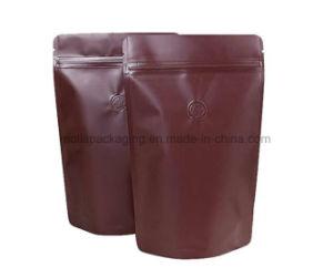 Stand up pouch/alimentos doces e café Sacos para embalagem de plástico de armazenamento da porca com fecho de correr/rasgar os entalhes