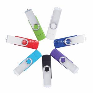 Disco Flash USB 2.0 giratorio de plástico de la memoria Flash USB Stick USB teléfono USB Flash Drive