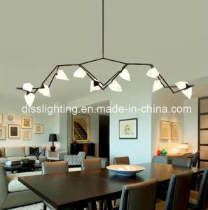 Alta qualidade de ramo de erva contemporâneo travando Lustre Pêssego LED