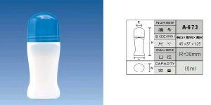 Échantillon gratuit en stock Prix de gros de l'usage Cosmétique 50ml en PEHD Déodorant roll conteneur de stockage sur le flacon de liquide de gel de soins de la peau