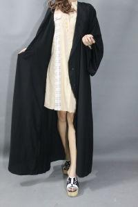 def74022c545 Vestiti islamici eleganti del maxi cappotto musulmano nero di alta qualità