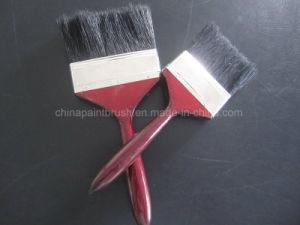 Natürlicher Borste-Lack-Pinsel-roter hölzerner Griff